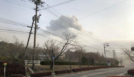 新燃岳の噴煙